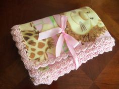 Baby+Blanket++Jungle+Babies+Fleece+with+Pink+by+mariahcreations,+$17.99