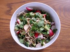Radish and Sesame Soy Noodle Salad from CookingChannelTV.com