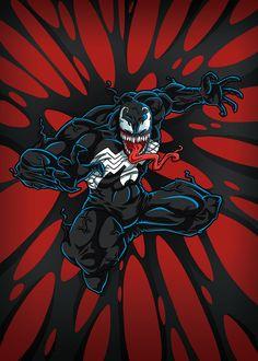 Venom on Behance Marvel Comics, Chibi Marvel, Venom Comics, Marvel Venom, Marvel Comic Universe, Marvel Art, Marvel Heroes, Comic Books Art, Comic Art