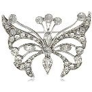 Antiquities Couture Crystal Fantasy Butterfly Brooch