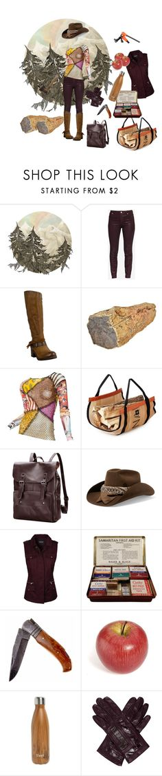 """""""Woodchuck"""" by autumnsunshine027 ❤ liked on Polyvore featuring Ted Baker, Miz Mooz, Jean-Paul Gaultier, Maison Michel, S'well, Neiman Marcus and Handle"""