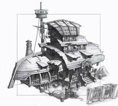Pirates house1 by Artyom Vlaskin Banderlog