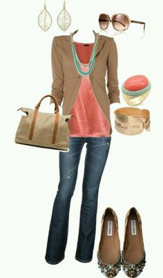 Cute fall outfit for the office