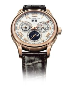 Chopard L.U.C Lunar One Perpetual Calendar: There's something timelessly classy about lunar phase watches. I like the idea of requiring at-a-glance information about the current moon phase, AT ALL TIMES. Like a gentleman werewolf....