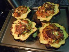 Paleo stuffed Acorn Squash..mmmmm tonight's dinner!
