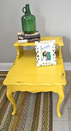 redo end table like this from Aaron's parents for Bear's room