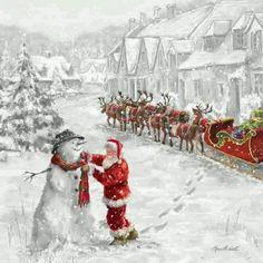 Santa fixn frosty