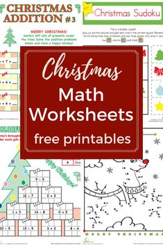Award winning educational materials like worksheets, games, lesson plans and activities designed to help kids succeed. Christmas Math Worksheets, Free Math Worksheets, Addition Worksheets, Printable Worksheets, Free Printables, Division Activities, Learning Activities, Kids Learning, Summer Activities