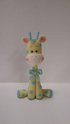 """Studio """"FONDANT DESIGN ANA"""" - Figurice za torte (fondant figures) Fondant Giraffe, Fondant Animals, Clay Animals, Fondant Cake Toppers, Fondant Cakes, Fondant Bow, Fondant Flowers, Cupcake Toppers, Geek Cake"""
