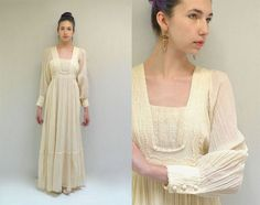 70s Wedding Dress  //  Gauze Lace Wedding Dress  //  IN THE SHIRE