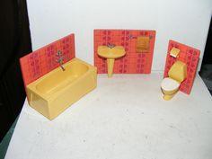Altes Badezimmer 70er Jahre Lundby Lisa Puppenhaus Puppenstube 1