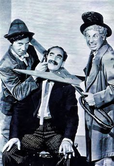 The Marx brothers! Groucho, Harpo and Zeppo