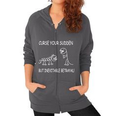 Fashions curse Zip Hoodie (on woman)