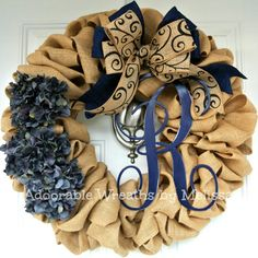 This wreath is perfect all year long!    Measures approx. 22 around    This wreath has sold! Let me recreate a similar wreath for you. Bow
