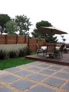 Small Backyard Gardens, Small Backyard Landscaping, Small Patio, Backyard Patio, Landscaping Ideas, Small Yards, Pavers Ideas, Large Backyard, Modern Backyard