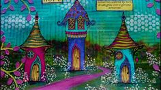 Mixed Media Art Journal Page - Houses Of Hope