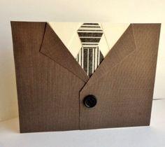 MENS SUIT and TIE Blank Card for Him Guys Casual by stephanieh02, $4.50
