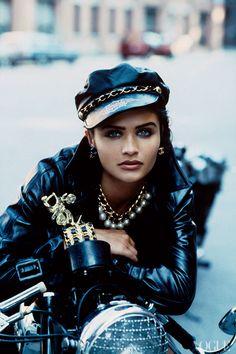 Helena Christensen. Photographed by Peter Lindbergh, Vogue, 1991