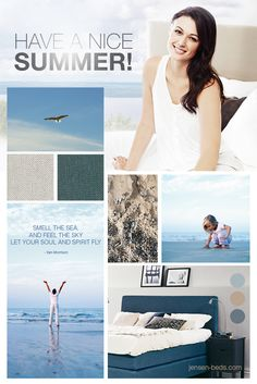 We hope you are enjoying your summer - by the sea, in the mountains or in a city. Have great fun and remember to get enough sleep during your holiday. Jensen Beds wish you a wonderful summer! You are welcome to visit our site for more information about our beds: http://jensen-beds.com/ Pictures: http://jensen-beds.com/
