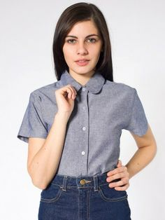 "A rounded collar is generally a small, flat, and close fitting collar with round edges.     ""Chambray Round Collar Short Sleeve Button-Up."" American Apparel. N.p., n.d. Web. 17 Jan. 2013."