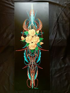 Donut boy style scroll by Fat Daddy Lines & Designs Airbrush Designs, Airbrush Art, Sign Painting, Air Brush Painting, Hot Rod Tattoo, Chevy Ssr, Honda Bobber, Pinstripe Art, Motorcycle Paint