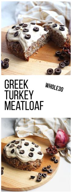 This Greek Turkey Meatloaf is compliant and super easy to whip together any night of the week! This Greek Turkey Meatloaf is compliant and super easy to whip together any night of the week! Turkey Recipes, Paleo Recipes, Real Food Recipes, Good Food, Yummy Food, Tasty, Greek Turkey, Sugar Free Bacon, Easy Whole 30 Recipes