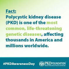 Today is National #PKDAwarenessDay!   Help us spread the word on polycystic kidney disease by sharing our special #PKDAwarenessDay graphics. Find them at www.pkdcure.org/pkdawarenessday