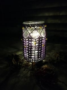 Vase, Table Lamp, Etsy Shop, Home Decor, Lilac, Candle Holders, Glass Beads, Handmade, Table Lamps
