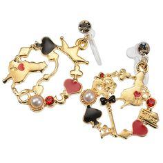 Disney Alice in Wonderland earrings Accessory Jewelry Kawaii Cute Mickey Japan