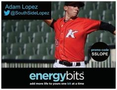 "ADAM LOPEZ: Adam is a pitcher for the Kannapolis Intimidators in the MiLB! ""BITS work wonders as a pitcher, specifically starting. Coming from a pitcher who was using the ENERGYbits as both a starter and reliever I noticed benefits in both roles, but more so as a starter. Pre start ritual: 30 mins before first pitch take 40 BITS (20 at a time), stretch, warm up and then go pitch in the game. Easily the perfect routine for me."""