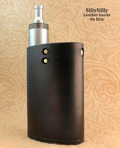Custom Leather Vapor Flask Sleeve Case Wrap Skin WITH BOTTOM STITCHING for VaporFlask Vaporizer Mod