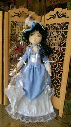 Bonecas de pano.Dama antiga Soraia Flores