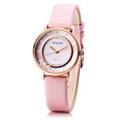 JULIUS 927 Flowing Bead Dial Fashion Ladies Student Quartz Wrist Watch