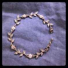 Timeless crystal flower bracelet Crystal metal bracelet, never worn :) Jewelry Bracelets
