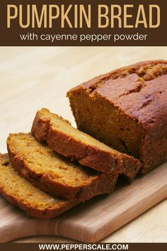 Spicy pumpkin bread is a perfect breakfast loaf for fiery food fans. It'll add a little edge to that cup of coffee. Or try it as a tasty dessert bread topped with some vanilla ice cream. All the spices play so well with the creamy, rich flavor. #spicypumpkinbread #spicypumpkinbreadrecipe #pumpkinbread #pumpkinbreadrecipe #pumpkinbreadeasy #pumpkinbreadrecipemoist #pumpkinbreadrecipeeasy Sweet Potato Dessert, Sweet Potato Bread, Sweet Potato Pancakes, Mashed Sweet Potatoes, Spicy Recipes, Bread Recipes, No Bake Desserts, Delicious Desserts, Coconut Flour Pancakes