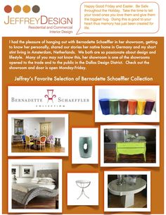 Jeffrey's favorite selection of Bernadette Schaeffler Collection