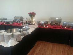 3 C's Catering buffet setup.