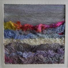 Textile Art Stormy Seascape Blues Greys by Giorgann on Etsy, £3.00