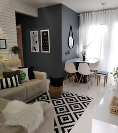 Living Room Designs, Living Room Decor, Classy Living Room, Home Alone, Creative Home, Home Interior Design, Decoration, Sweet Home, House Design