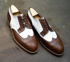 Hand Crafted Oxford Brogue Leather Shoes, Formal Wing Toe Business Men Shoes - Dress/Formal