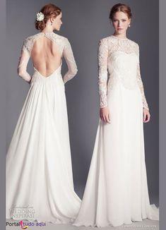 Vestido de noiva inverno 2013/2014   Portal Tudo Aqui