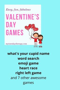 Super Fun Valentine's Games for Kids. Cool ideas for celebrating Valentine's Day. Games for large groups, home and school. Things to do with kids. Valentine Name, Valentine Songs, Valentines Day Holiday, Valentines Gifts For Boyfriend, Valentines Day Decorations, Valentines For Kids, Boyfriend Gifts, Valentine Ideas, Valentine Cards