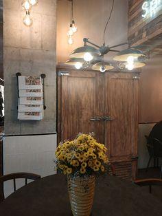 Our Cullen industrial dish chandelier hangs elegantly in the tea rooms of Florence Court House. Designer: Jane McSherry Design   #mullanlighting #madeinireland #industriallighting