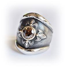 Susan Roos Juwele Chunky oxidized silver ring