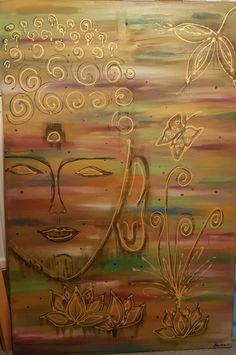 Budist Arabic Calligraphy, Painting, Art, Art Background, Painting Art, Kunst, Paintings, Arabic Calligraphy Art, Performing Arts