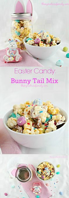 Bunny Tail Mix is the perfect Easter Candy idea.  Especially packaged in a mason jar bunny.