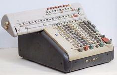 VINTAGE MONROE CSA-10 Electric Adding Machine MONROMatic Heavy Steel Calculator #Monroe