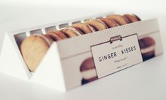Ginger Kisses Packaging Re-design by Veronica Cordero, via Behance