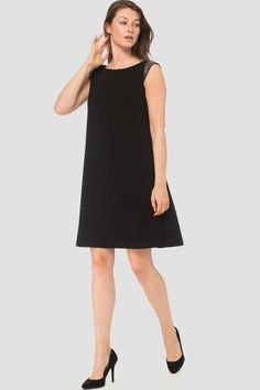 Featuring bateau neckline with jewel accents as well as sheer chiffon sleeves with open interior. Short Sleeve Dresses, Dresses With Sleeves, Cap Sleeves, Joseph Ribkoff Dresses, Monday Dress, Sheer Chiffon, Sequin Dress, Designer Dresses, Fashion Dresses