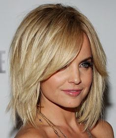 Medium layered hairstyles 2013: Medium Layered Haircuts 2013 wonder how this would look on a fuller face...think it's cute!